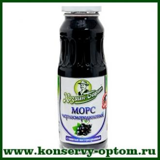 Морс черносмородиновый с мякотью пастеризованный